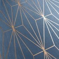 Muriva Kayla Luxury Geometric Navy & Bronze 703016 Wallpaper
